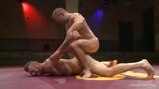 Naked wrestlers dirk Caber and Hugh Hunter
