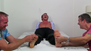 Kenny gets his bare tickled for the first time