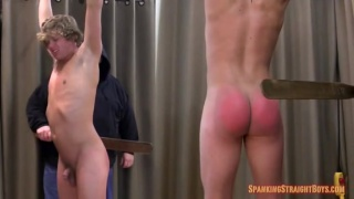 19-year-old straight boy gets spanking hard