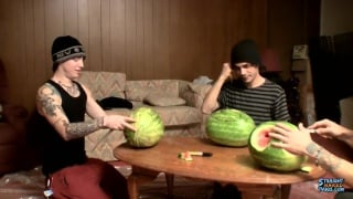 straight guys fucking watermelons