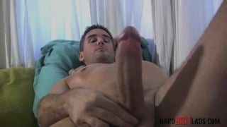 straight bloke steve hooper plays with his big dick