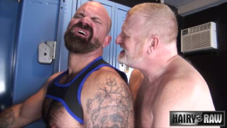 Rusty McMann bare fucks Victor West at entourage bathhouse