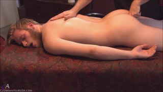 Hugh's massage and handjob