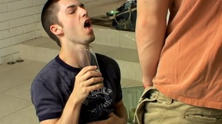 Piss Drunk Kaleb Scott at boys pissing