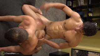 chiseled stud Adam Cub fucks his first guy