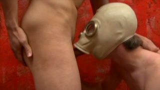 Pissing All Over His Bottom's Gasmask