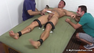 Sebastian young strapped down and tickled mercilessly