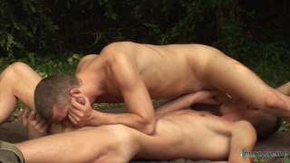 horny french lads having sex in the woods