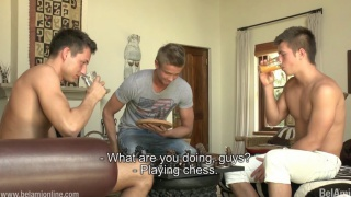 strip chess with Tom Pollock, Gaelan Binoche and Philipe Gaudin