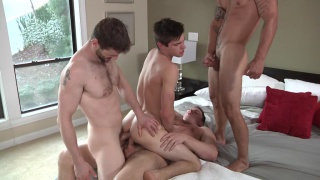 Johnny Goes Bareback with Johnny Rapid, Vadim Black, Dennis West and Jake Wilder