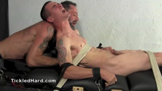 Military tough guy gets tickled