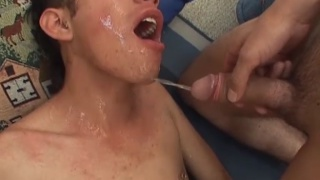 damian bare fucks tito and cums on his face