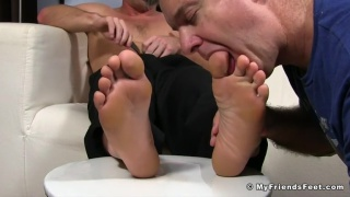 worshipping scott riley's bare feet