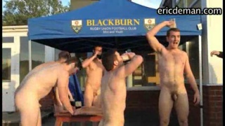 naked footballers in outdoor initiation