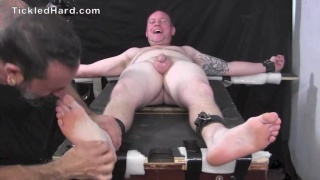 beefy Southern guy gets his size 11 feet tickled