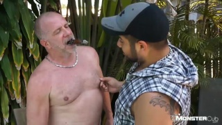 two daddies shoot amazing load together