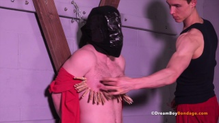 strapping stud gets beaten and fucked