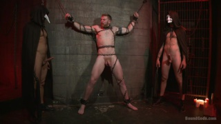 Christian Wilde and Jessie Colter work over slave Cass Bolton