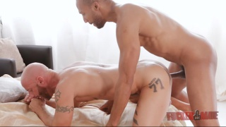 Buster Sly and Aymeric Deville in interracial encounter