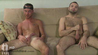 straight guy Jordan Belfort fucks gay guy Braxton Smith