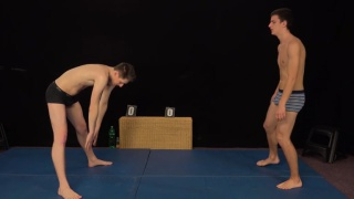 naked wrestling match with Milan Pokorny and Roco Rita