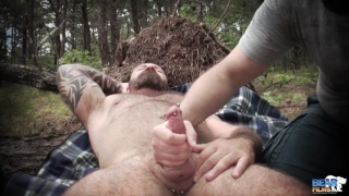 Outdoor Handjob with Marc Angelo and Scott Locke