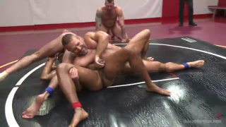 regarder la vidéo: fourway tag team - Dirk Caber, Billy Santoro, Hugh Hunter and Troy Sparks
