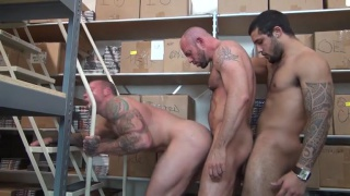 Warehouse threeway with Sean Duran, Matt stevens and Mario Cruz
