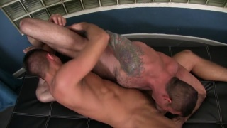 Nick Moretti fucks Dylan Saunders in shower
