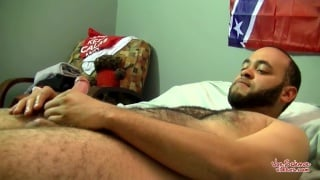 bald bearded redneck gets uncut dick sucked