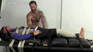 bound james gets tickled by tatted man