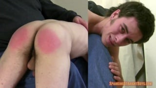good-looking straight boy's fist spanking