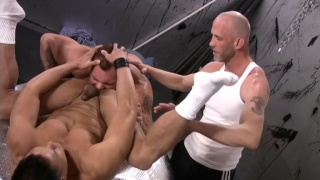 Mr. Spit and Tober Brandt use bottom in backroom