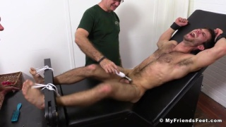 Cole money gets strapped down and tickled