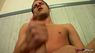 welsey strokes his gorgeous uncut cock