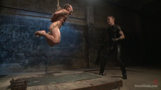 Christian Wilde works over Chris Burke in his dungeon