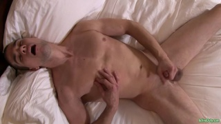 university stud Prince masturbates on bed