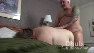 chub silver daddy fucks his bottom's huge ass