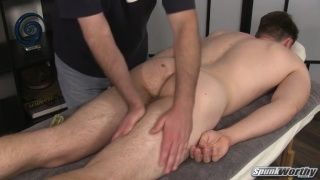 a couple of tugs and shane's dick is rock hard