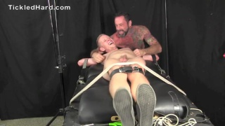 Lucky gets tied up and tickled