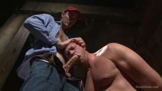 Christian Wilde punishes farmhand Josh Peters