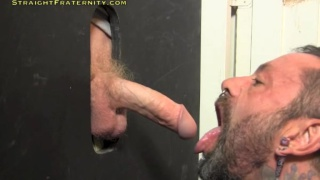 hung straight guy Nico gets glory hole head