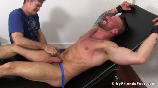 hairy muscle hunk hugh hunter gets tickled