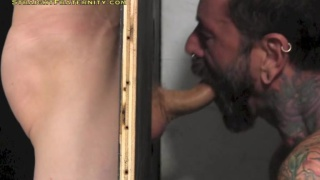 Ace takes his turn at the glory hole
