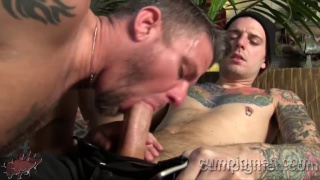inked stud christop gets sucked off
