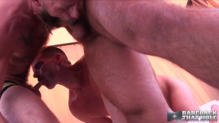 two men raw fuck cock-hungry bottom whore