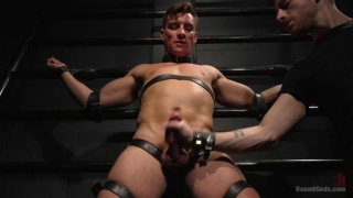 bound straight hunk gets more than he bargained for