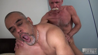 daddy-on-daddy bareback fucking