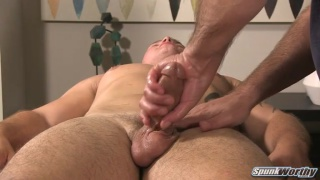 straight guy jayson gets first handjob from a guy
