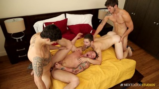regarder la vidéo: caught cock handed with Jimmy Clay, Lance Ford, Griffin Barrows & Allen Lucas